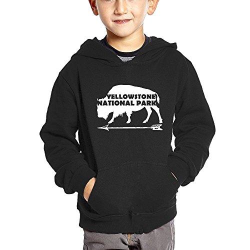 - Yellowstone National Park Old Faithful Buffalo Boys and Girls Fashion Hoodie Sweatshirt With Pocket