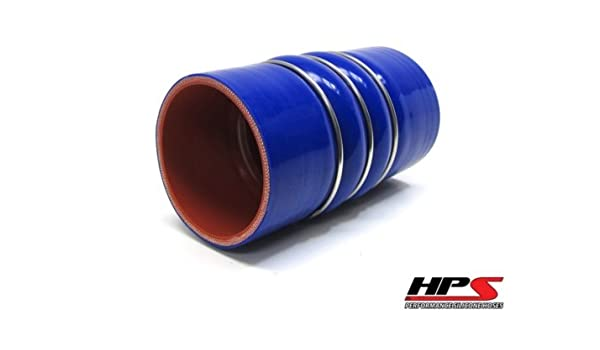 Blue 6 Length 4 ID HPS Silicone Hoses 6 Length HPS CAC-400-COLD Silicone High Temperature 4-ply Reinforced Charge Air Cooler CAC Hose Cold Side 100 PSI Maximum Pressure 4 ID