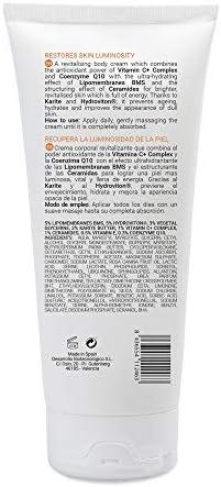 PFC Cosmetic - Crema Corporal Radiance C+ Body Cream 200ml con Lipomembranas BMS Hydroviton® Glicerina Vegetal Manteca de Karité Complejo de Vitamina C Ceramidas Vitamina E y Coenzima Q10.