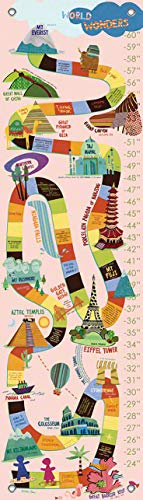 Oopsy Daisy Growth Charts World Wonders Pink by Jenny Kostecki Shaw, 12 by ()