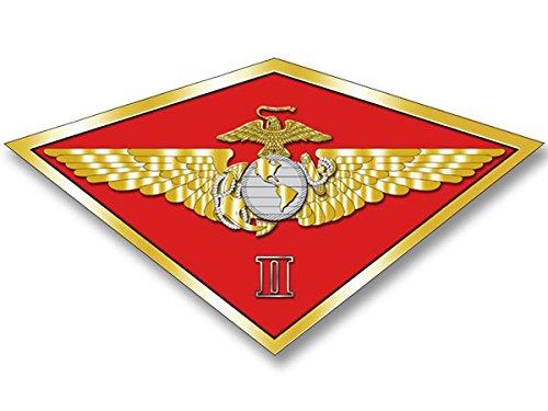 Marine Air Wing - MAW 2nd SECOND Marine Aircraft Wing Sticker (diamond shaped ii usmc)