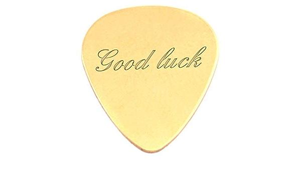 Grabado Good luck 18 K chapado en oro Púas para guitarra/de ...