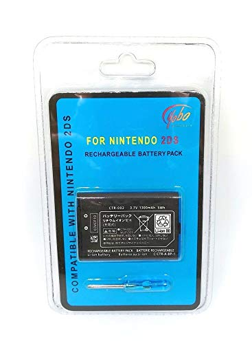 Yobo 2DS Reachargeable 1300mAh Battery with screwdriver for N2DS Nintendo - For 2ds Nintendo Screwdriver