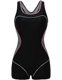 Womens Boy-Leg One Piece Swimsuit