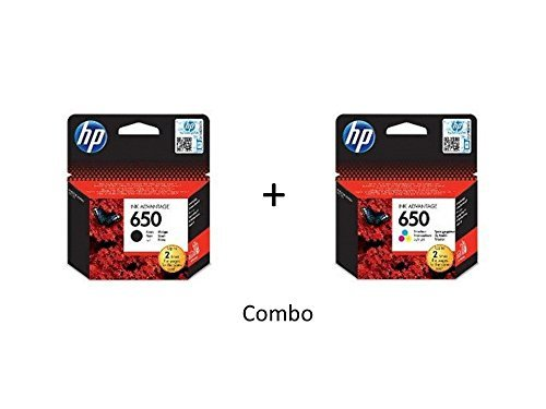 HP 650 2-pack (Combo) Black/Tri-color Ink Cartridges - (CZ101AE + CZ102AE) by HP
