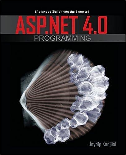Book ASP.NET 4.0 Programming by Joydip Kanjilal (2009-12-07)