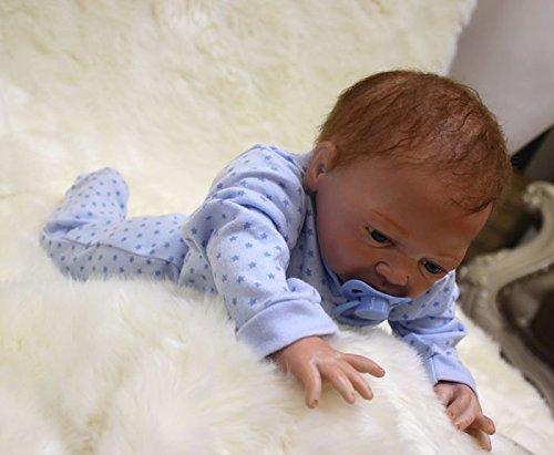 "Reborn doll 46cm//18/"" Handmade Reborn Baby Doll Girl Newborn Lifelike Soft Vinyl silicone OtardDolls"