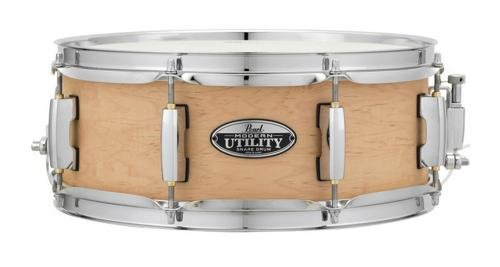 Pearl MUS1350M224 Modern Utility 13''x5'' Maple Snare Drum, Matte Natural by Pearl
