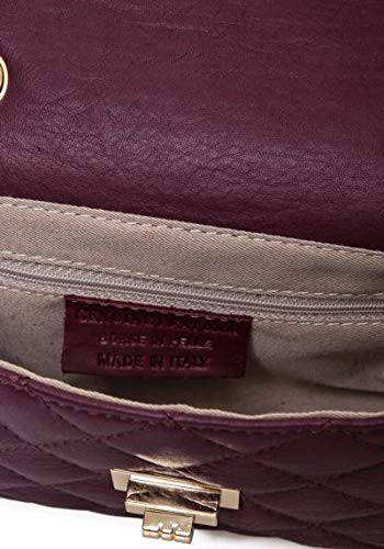 leren Italy Bordeaux Lucy padding tas 1074xe met Bags made OdPAAqw