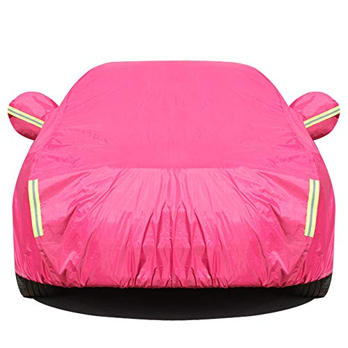 XIANK-UA Thick Oxford Cloth Car Anti-Theft Hood Dustproof Insulating SUV Cover Compatible with Mercedes Benz Model Series,Pink,ML350