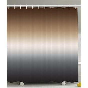 Amazon.com: Ambesonne Ombre Shower Curtain Art Bathroom Decor by, 70 ...