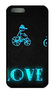 Love 60 Cover Case Skin for iPhone 5 5S Hard PC Black