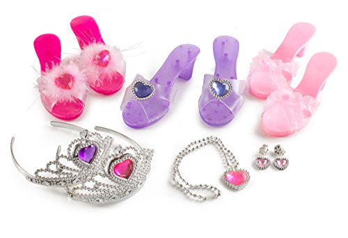 Little Princess Deluxe Girl Dress Up and Role Play Slippers and Jewelry Set