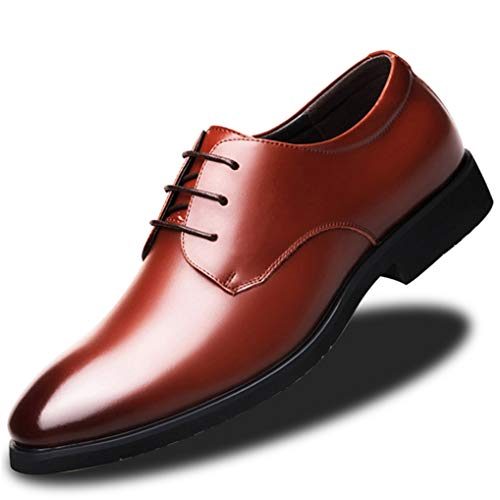 Starttwin Men's Oxford Shoes Autumn Winter Comfort Damping Non-Slip Formal Shoes