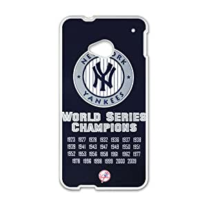 RHGGB MLB New York Yankees Cell Phone Case for HTC One M7