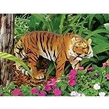 Cheap 13″ Indonesian Wildlife Tiger Sculpture Statue Figurine