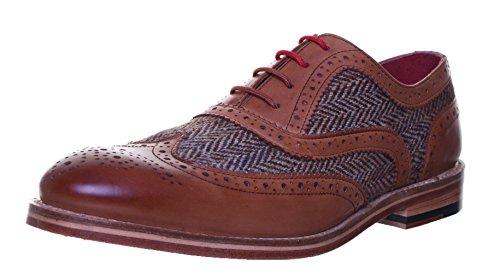 Justin Reece Truman, Zapatos Con Cordones Para Hombres, Beige (tostado), 40 Eu