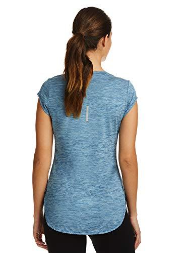 Reebok Women's Legend Performance Top Short Sleeve T-Shirt - Dark Blue Heather, X-Small by Reebok (Image #2)