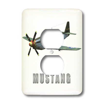 3dRose lsp_34462_6 Mustang Aircraft - 2 Plug Outlet Cover