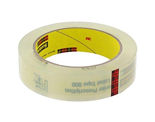 Scotch(R) Prescription Label Tape 800 Clear, 1 1/2 in x 72 yd [PRICE is per -
