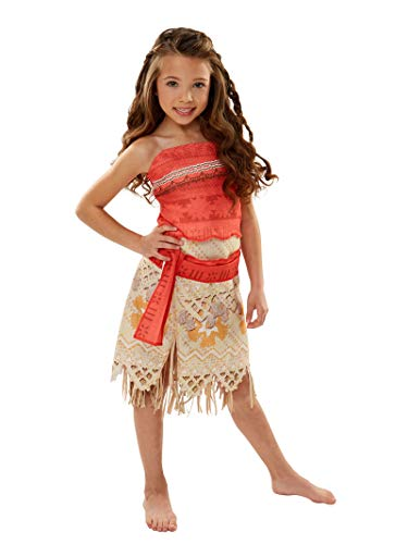 Disney Moana Girls Adventure Outfit , Size 4-6X (Jak Costume)