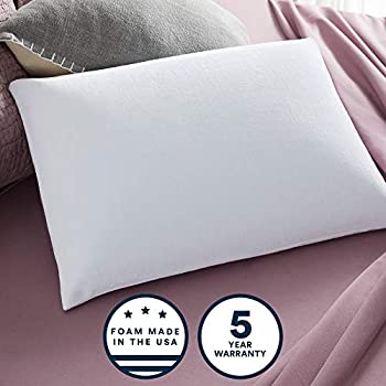 Sleep Innovations Classic Memory Foam Pillow with Breathable Knit Cover, Made in The USA with a 5-Year Warranty, Queen Pillow