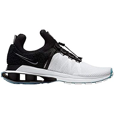 e105057ac98 NIKE Men s Shox Gravity White Black White Nylon Running Shoes 9.5 (D)