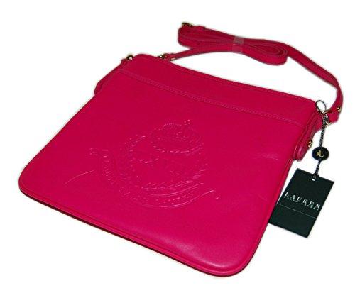 Ralph Lauren Womens Equestrian Polo Leather Slim Shoulder Bag Handbag Tote - Ralph Pink Tote Lauren