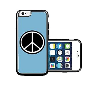 Peace Aua Plain Black iPhone 6 Case - Fits NEW Apple iPhone 6