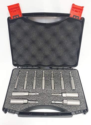 高硬度 セミロングソケット11本組 5.0~14.0mm 深型32mm 六角軸 専用BOX付