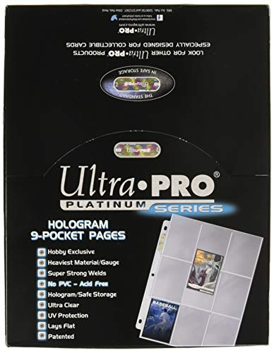 Ultra Pro 9-Pocket Standard Size Platinum Series Trading Card Pages (100 ct. Box) ()