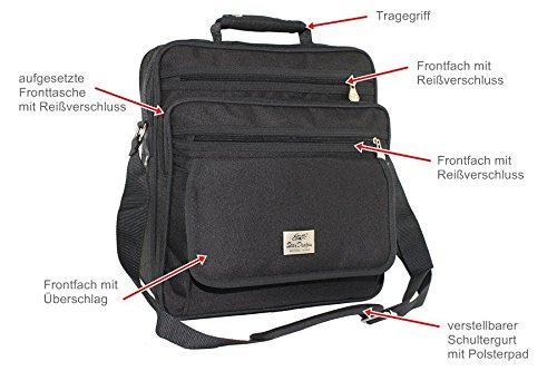 Hombro Bolso De Yoga compañero de vuelo ausweis bolso business Messenger Bag Funda Black nuevo