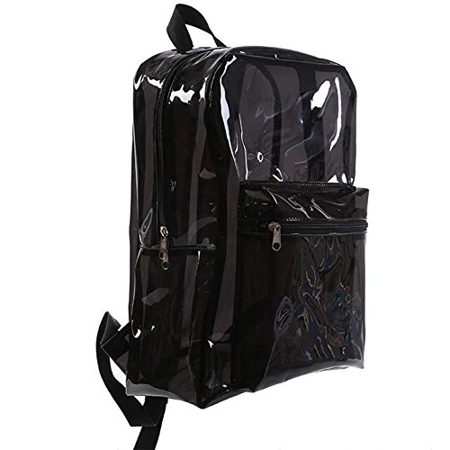 Bag Transparent Everyday Backpack Pulama Black School TOw8pSxqI