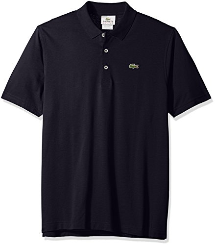Technical Short Sleeve Polo Shirt - Lacoste Men's Short Sleeve Super Light Jersey Polo Shirt, Navy Blue, Size 3