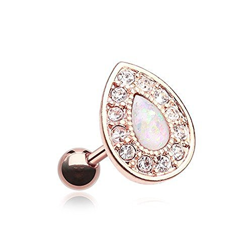 se Gold Opal Avice Cartilage Tragus Earring ()