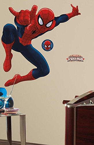 Spiderman - Ultimate Spiderman Peel & Stick Giant Wall Decal 18 x 40in