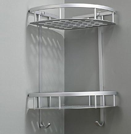 LifeBest Wall Mounted Home Hook Shower Storage 2layers Wall Shelf ...