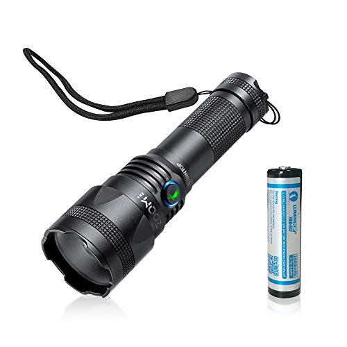 LED Tactical Flashlight Rechargeable-Lumintop Zoom 1 2019 New Design High Lumens,Zoomable Super Bright for Camping and Hiking,18650 Battery Inclued (Best Tactical Led Flashlight 2019)