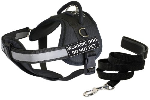 Dean & Tyler 28 by 38-Inch Working Dog Do Not Pet Harness with Padded Puppy Leash, Medium by Dean & Tyler
