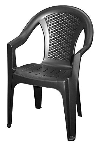 102116 in antracite - Monoblocco in effetto rattan sedia da ...