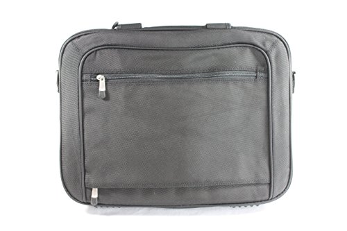 Genuine Dell RG392 Deluxe Black Nylon Laptop Notebook Carrying Case Shoulder Bag Satchel Breifcase, For Your Apple MacBook Air, Toshiba Satellite A200, A205, A215, Acer Aspire, Dell Inspiron 1525, or ()
