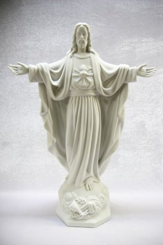 24'' Blessing Sacred Heart of Jesus Christ Religious Catholic Statue Sculpture Made in Italy by Vittoria Collection
