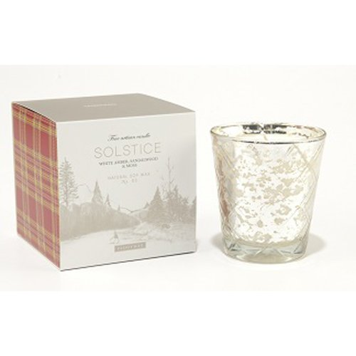 Paddywax Candles Woodland Collection Mercury Glass with Candle, 5.5-Ounce, Solstice ()
