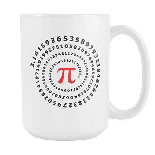 Costume Contest Rules (PI VORTEX Coffee Mug, PERFECT GIFT for PI Math Lover, Teacher, Professor, High School College Student Attractive Durable White Ceramic Mug, 15oz.)