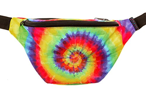 KANDYPACK Tie Dye Fanny Pack with Hidden Pocket Perfect for Raves and Festivals
