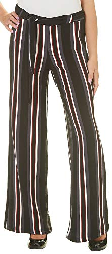 Hot Kiss Juniors Belted Striped Pull On Pants Large Black Multi for $<!--$16.20-->