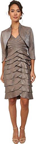 Adrianna Papell Womens Shutter Pleat Dress w/ Jacket
