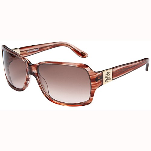 Juicy Couture Women's Glitterati Sunglasses,Copper Sparkle Frame/Blue Lens,one (Juicy Couture Prescription Sunglasses)