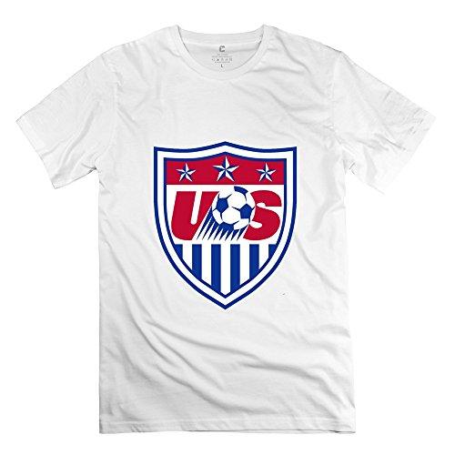 Men's Women's World Cup American Logo Screw Neck Tshirt Size M White