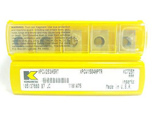 Kennametal XPCW 1504APTR 253 Hartmetall-Einsätze KC725M Frässpitzen, 5 Stück